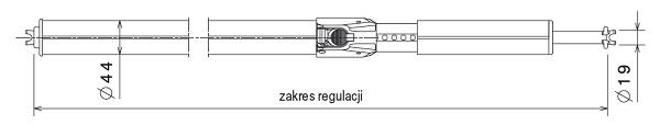 Drążek rozporowy aluminiowy