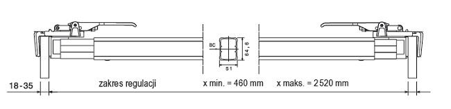Belka blokująca 2400-2520 mm