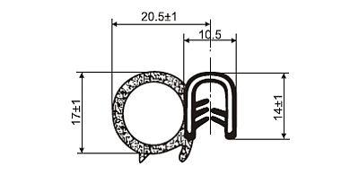 Uszczelka samozaciskowa 3-4 mm