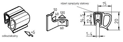 Uszczelka samozaciskowa 1-4 mm