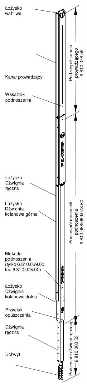 Mechanizm podnoszenia dachu Liftmaster 770 Hestal