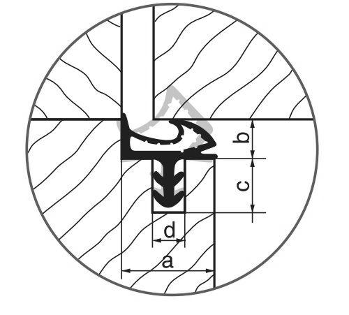 Biała uszczelka do ościeżnicy drzwi wewnętrznych lub zewnętrznych.